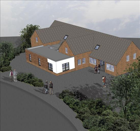 Artist's impression of the extended building